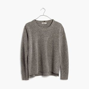 Madewell Wool Charcoal Grey Sweater Size M